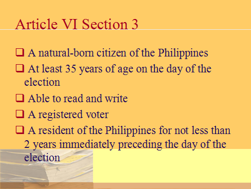 be a Philippine politician