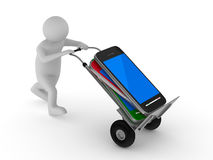 Mobile Phone Loading In Business Man Hand Stock Photo - Image ...